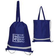 Double Feature Non-Woven Sports Drawstring Tote Bag with Logo