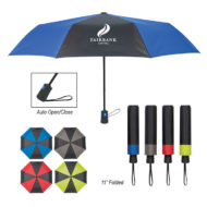 Duet Colors Automatic Open and Close Promotional Umbrella 43 Inch Arc