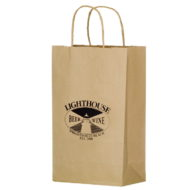 "Promotional Custom Logo Eco-Friendly Paper Handle Shopper Bag 10"" x 13"" x 5"""