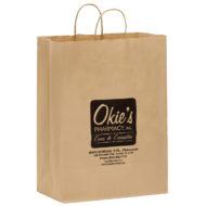"Promotional Custom Logo Eco-Friendly Paper Shopper Bag 13"" x 17"" x 7"""