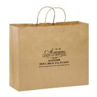 "Promotional Custom Logo Eco-Friendly Paper Take-Out Shopper Bag 16"" x 12"" x 6"""