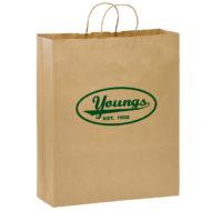 "Promotional Custom Logo Eco-Friendly Paper Take-Out Shopper Bag 16"" x 19"" x 6"""