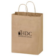"Promotional Custom Logo Eco-Friendly Paper Wine Tote For Two Bottles 8.25"" x 13.625"" x 4.75"""