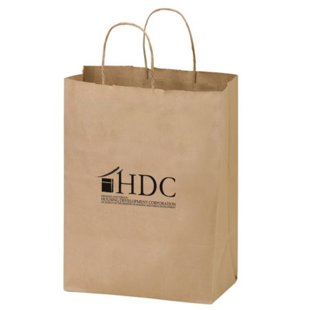 """Promotional Custom Logo Eco-Friendly Paper Wine Tote For Two Bottles 8.25"""" x 13.625"""" x 4.75"""""""