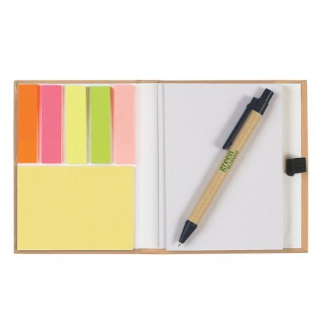 Promotional Custom Logo Eco-Inspired Notebook With Pen