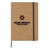 Eco-Inspired Strap Notebook-Black Custom Logo