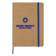 Eco-Inspired Strap Notebook-Blue Custom Logo