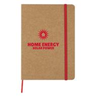 Eco-Inspired Strap Notebook-Red Custom Logo