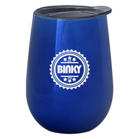 Promotional Custom Logo Electroplated Stemless Wine Cup 10oz