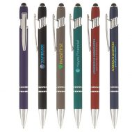 Promotional Custom Logo Ellipse Softy Stylus Pen - Full Color Imprint