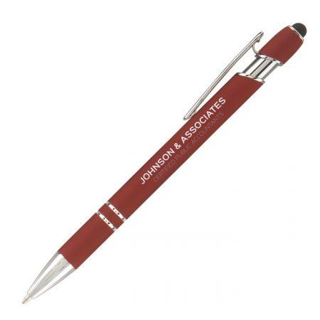 Promotional Custom Logo Ellipse Softy Stylus Pen - Laser Engraving