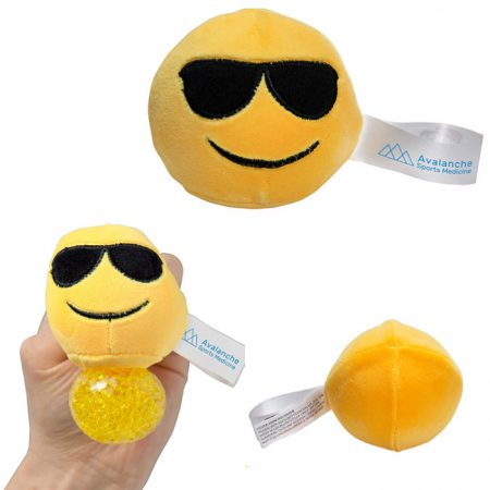 Promotional Emoji Stress Reliever Squeeze Toy with Logo