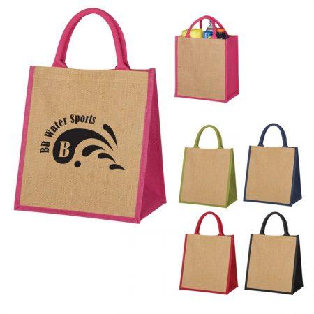 Promotional Custom Logo Escape Jute Tote Bag