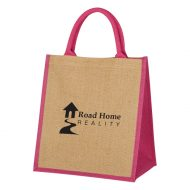 Promotional Custom Logo Escape Jute Tote Bag