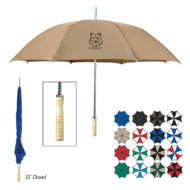 48 Inch Arc Promotional Classic Style Umbrella with Wood Handle Logo Printed