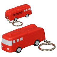 Custom Fire Truck Stress Ball Key Chain with Logo