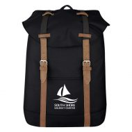 Promotional Custom Logo Flap Drawstring Backpack