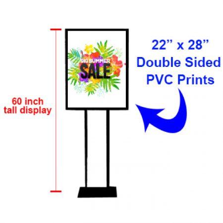 Custom Floor Poster Sign Stand 22x28