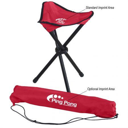 Promotional Custom Logo Folding Tripod Stool With Carrying Bag