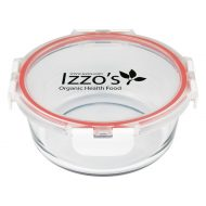Promotional Custom Logo Fresh Prep Round Glass Food Container