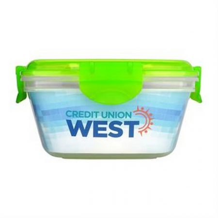 Promotional Custom Logo Full Color Clip Top Container