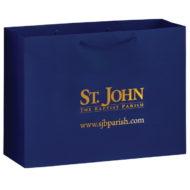 Promotional Custom Logo Gloss Laminated Euro Tote Bag 16x12