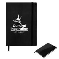 Glossy Journal-Black Custom Logo