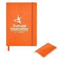 Glossy Journal-Orange Custom Logo