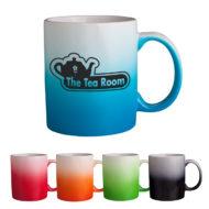 Custom Branded Ombre Gradient Ceramic Mug 11oz