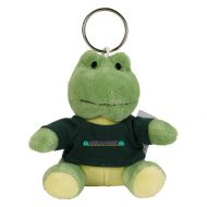 Promotional Custom Logo Green Stuffed Plush Mini Frog Key Chain