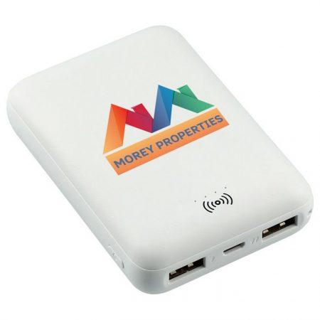 Promotional Custom Logo Halley 5000 mAh Wireless Power Bank