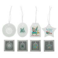 Promotional Custom Logo - Hammered Glass Ornament