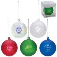 Promotional Custom Logo - Hand Blown Glass Ornament - Hand Blown Glass Ornament