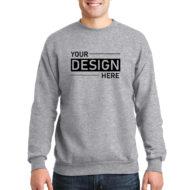 Custom Logo Hanes EcoSmart Crewneck Sweatshirt