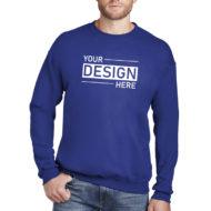 Custom Logo Hanes Ultimate Cotton Crewneck Sweatshirt