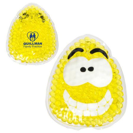 Promotional Custom Logo Happy Emoji Hot/Cold Pack Aqua Pearls