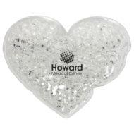 Promotional Custom Logo Heart Hot/Cold Pack Aqua Pearls