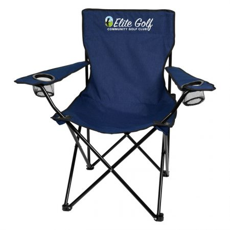 Promotional Custom Logo Heathered Folding Chair With Carrying Bag