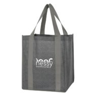 Promotional Custom Logo Heathered Non-Woven Shopper Tote Bag
