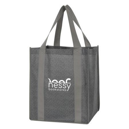 Promotional Custom Logo Heathered Non-Woven Shopper Tote Bag