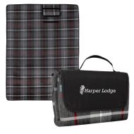 Promotional Custom Logo Highlander Roll-Up Picnic Blanket