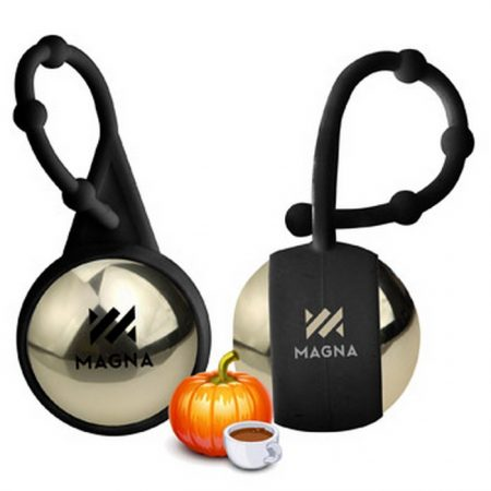 Promotional Custom Logo Holiday Pumpkin Spice Latte Lip Balm Ball With Holder