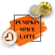 Promotional Custom Logo Holiday Pumpkin Spice Latte Lip Balm Ball