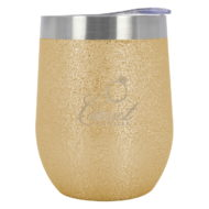 Promotional Custom Logo Iced Out Vinay Stemless Wine Cup 12oz