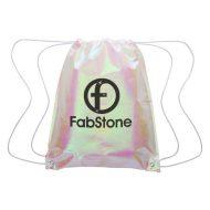 Promotional Custom Logo Iridescent Pearl Drawsting Bag