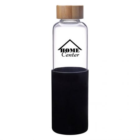 James Glass Water Bottle 18oz with Custom 1 Color Logo Imprint