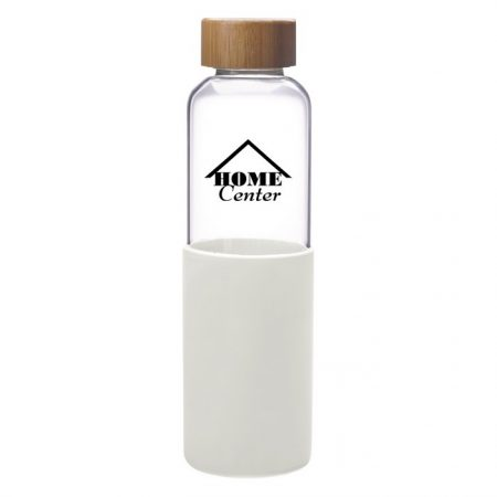 Promotional Custom Logo James Glass Water Bottle 18oz