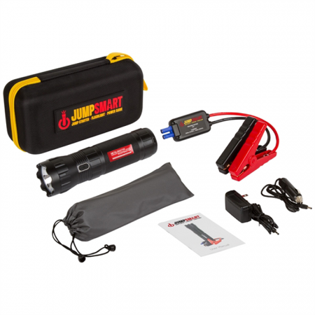 Promotional Products - JumpSmart Auto Jump Starter with LED Flashlight and Power Bank (10000 mAh)