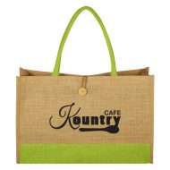 Promotional Custom Logo Jute Box Tote Bag
