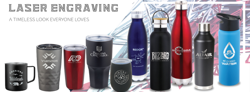Laser Engraved Promotional Drinkware
